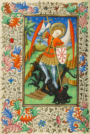 Saint Michael defeating the dragon
