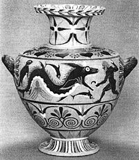 Ketos on Greek pottery