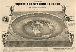 Map of square and stationary earth