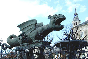 Dragon sculture in Klagenfurt
