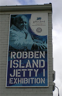 Robben Island Jetty sign