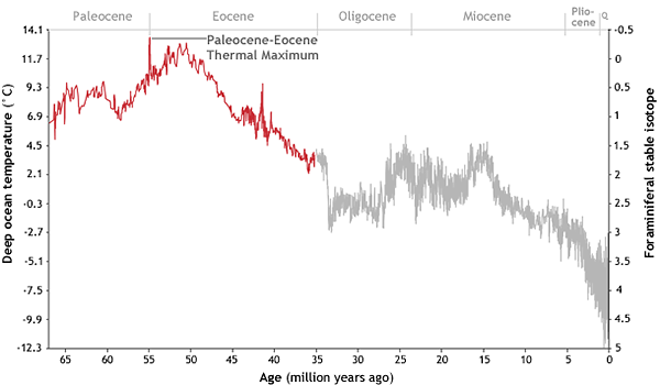 Temperatures since the Mesozoic